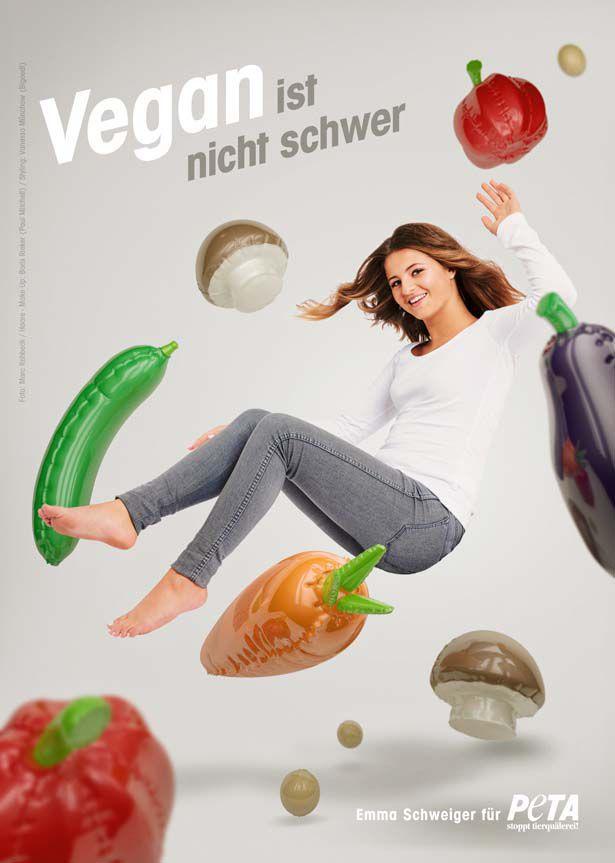 Emma Schweiger fliegt auf buntes Gemüse