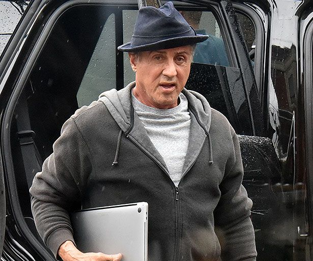Sylvester Stallone on Creed 2 Set