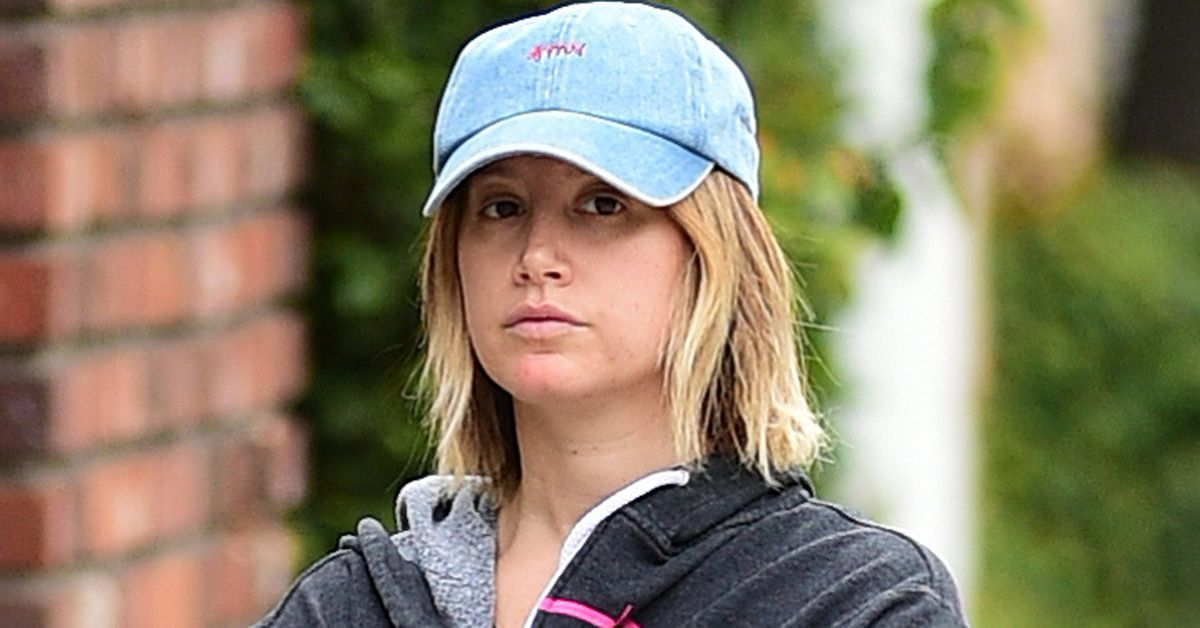 Ashley Tisdale wears a hat to the gym