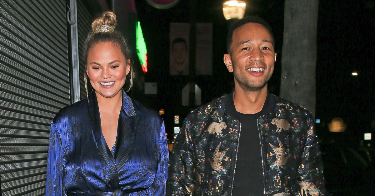 John Legend and Chrissy Teigen go out for a pizza date