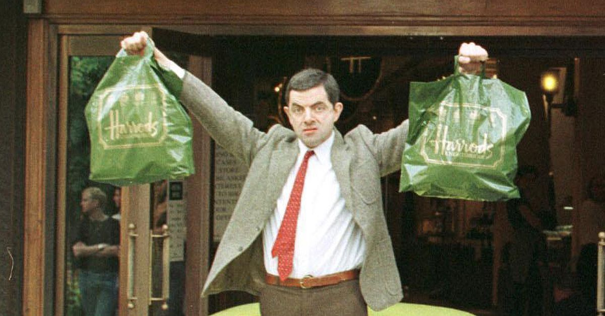 Rowan Atkinson filming Mr Bean at Harrods in LondonWhen: 11 Nov 2011