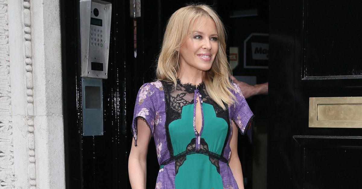 Kylie Minogue at the Magic Radio studios
