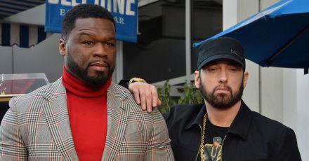 """""""50 Cent"""" wird mit Stern gefeiert und Eminem war auch da"""
