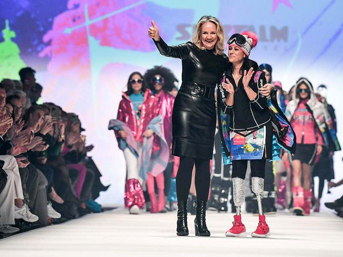 Giusy Versace mit glamouröser Prothese in Berlin