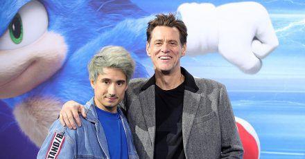 Video: Jim Carrey und Julien Bam auf dem blauen Teppich