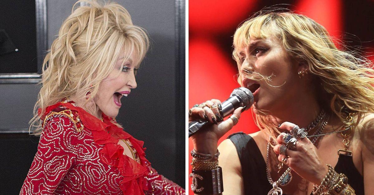 Miley Cyrus nimmt Patentante Dolly zum 74. auf die Schippe