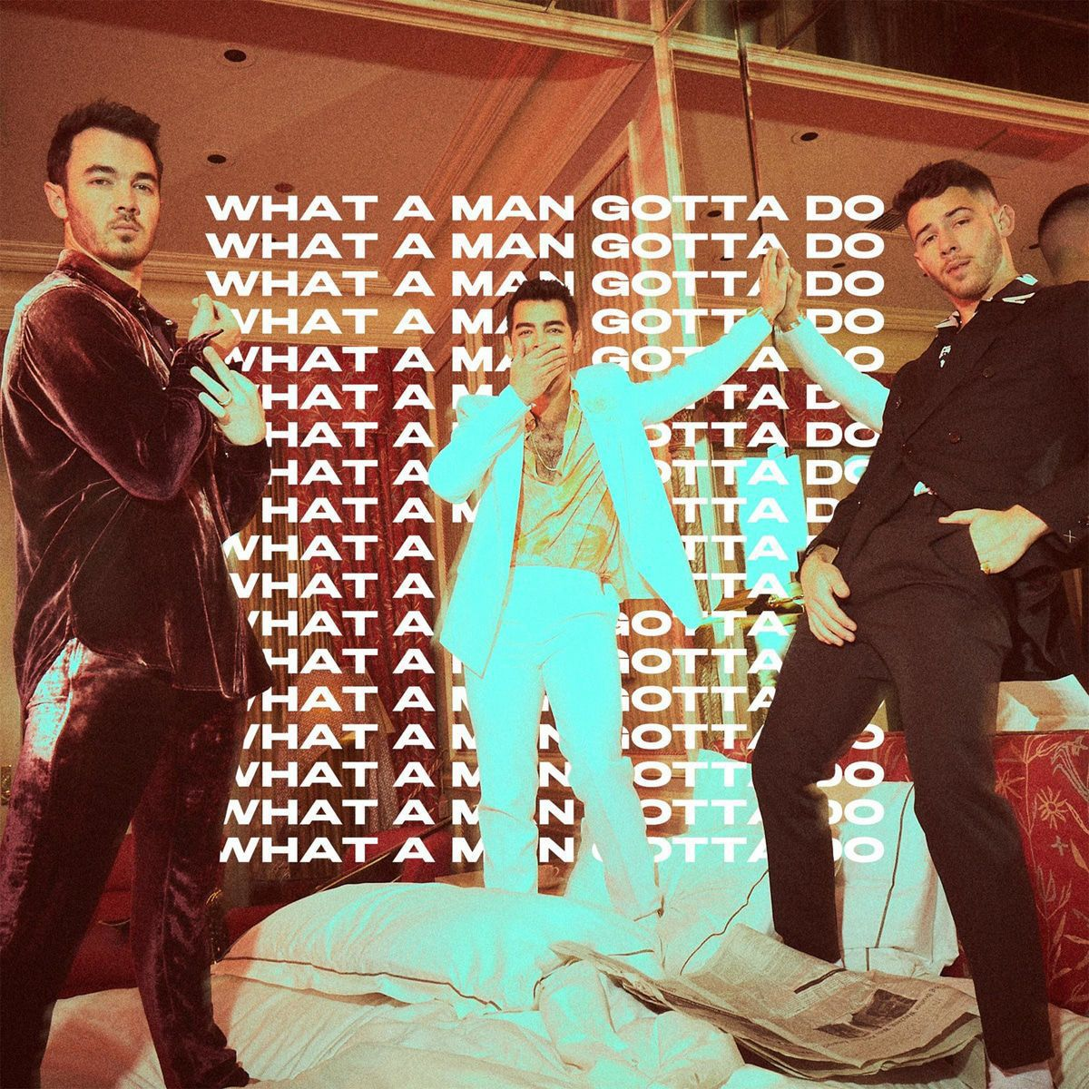 """Jonas Brothers mit Ehefrauen: Hier ist das neue Video """"What A Man Gotta Do"""""""