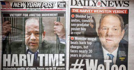Harvey Weinstein: So wird seine Verurteilung gefeiert
