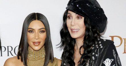 Kim Kardashian und Cher im sexy Biker-Look