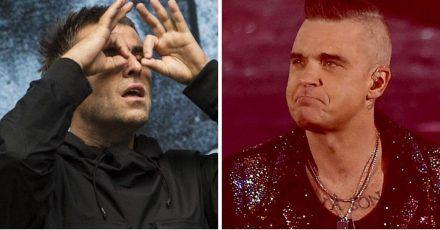 Robbie Williams erklärt hier seine Hassliebe mit Liam Gallagher