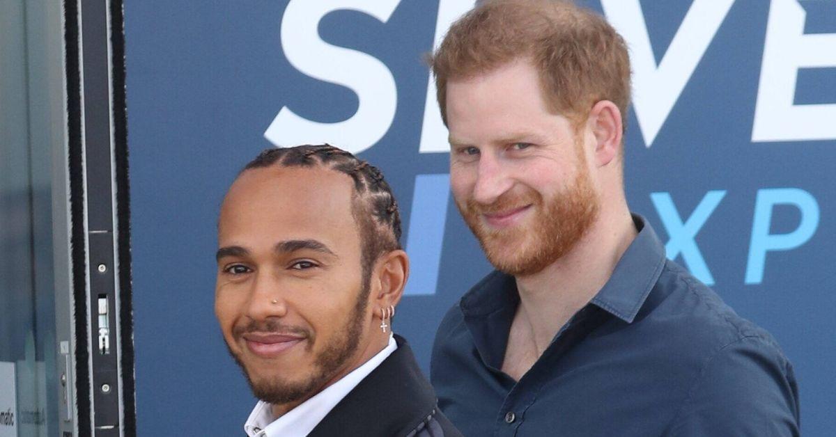 Prinz Harry trifft Lewis Hamilton