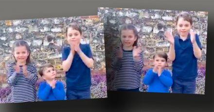 Oh nein, wie süß: Applaus von Prinz George, Prinzessin Charlotte und Prinz Louis