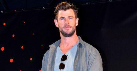 Chris Hemsworth: Hier platzt sein Sohn in ein Video-Interview