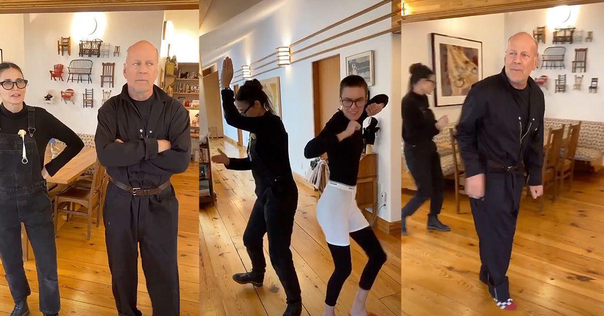 Bruce Willis und Demi Moore tanzen durch die Isolation