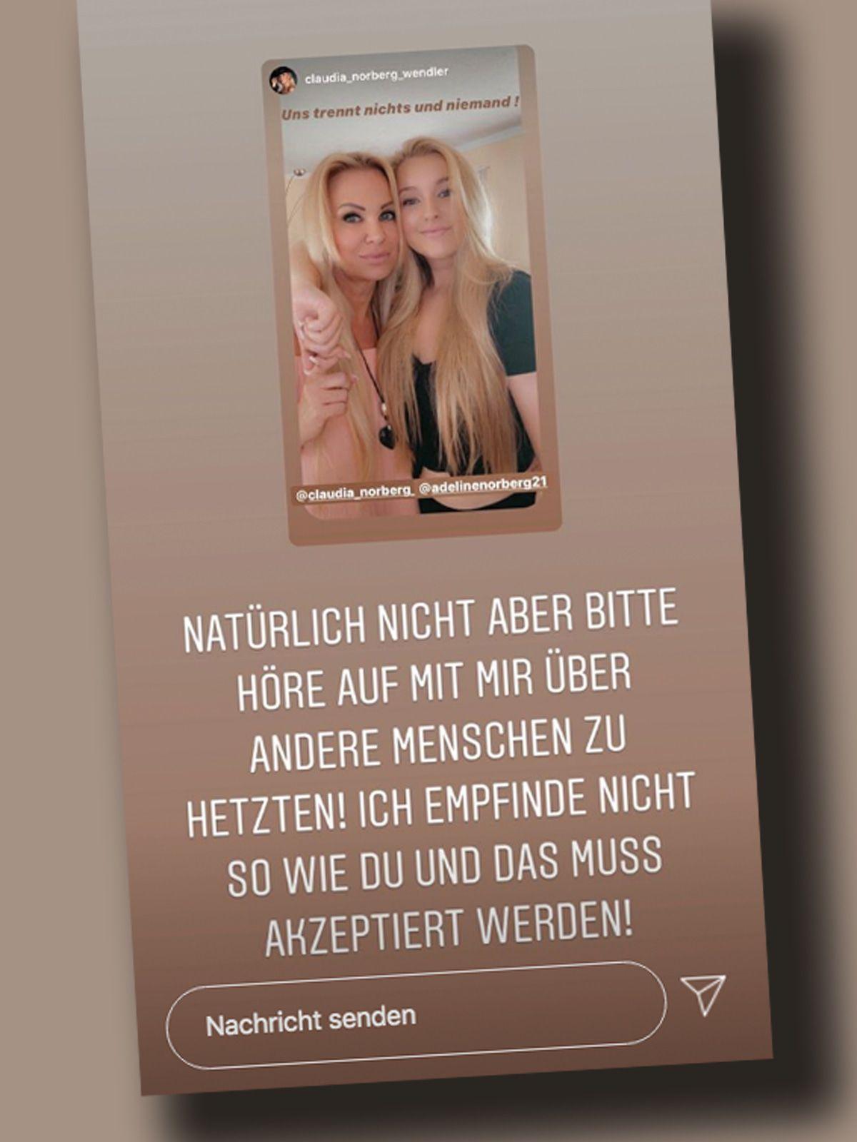 Claudia Norberg: Tochter Adeline wehrt sich jetzt gegen ihre Mutter!