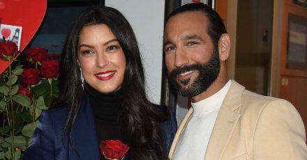 Rebecca Mir und Massimo Sinató überglücklich