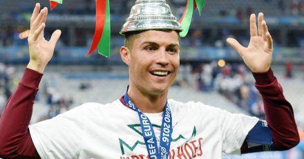 Cristiano Ronaldo als Aladin verkleidet in Turin