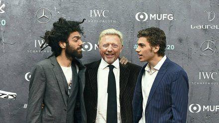 Boris Becker mit seinen Söhnen Noah (l.) und Elias. (stk/spot)