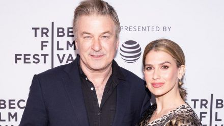 Hilaria Baldwin mit Ehemann Alec auf einer Filmpremiere im April 2019 (jom/spot)
