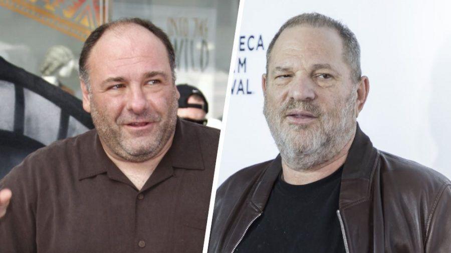 James Gandolfini (li.) und Harvey Weinstein schienen nicht die besten Freunde gewesen zu sein. (cos/spot)
