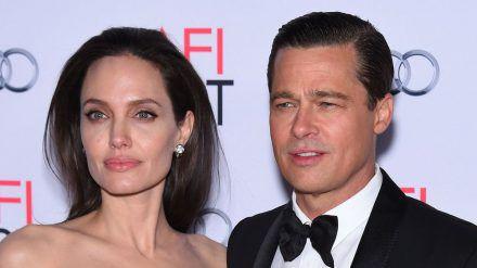 Brad Pitt und Angelina Jolie ein Jahr vor ihrer Trennung. (hub/spot)