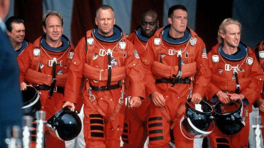 """In """"Armageddon - Das jüngste Gericht"""" mussten 1998 Steve Buscemi (v.l.), Will Patton, Bruce Willis, Michael Clark Duncan, Ben Affleck und Owen Wilson die Welt retten (wag/spot)"""