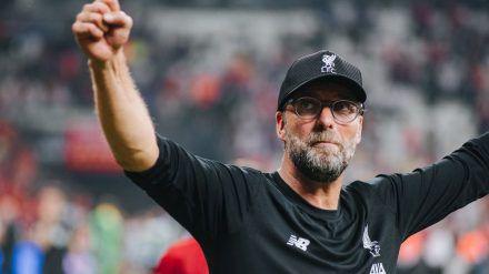 Jürgen Klopp feiert mit dem FC Liverpool die englische Meisterschaft (hub/spot)