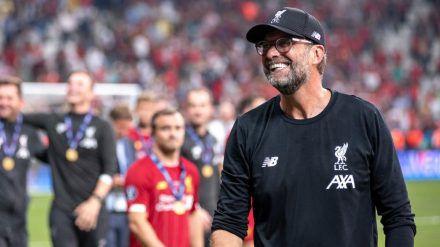 Wer arbeiten kann, kann auch feiern: Liverpool-Meistercoach Jürgen Klopp (dms/spot)