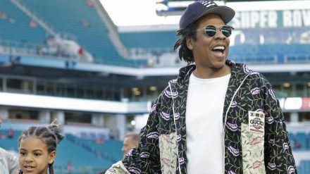 Jay-Z mit Tochter Blue Ivy (hub/spot)