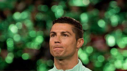 Cristiano Ronaldo steht eigentlich auf mächtig viel Gel in den Haaren (dr/spot)