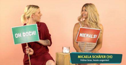 """Video: Micaela Schäfer spielt """"Ich habe noch nie…"""""""