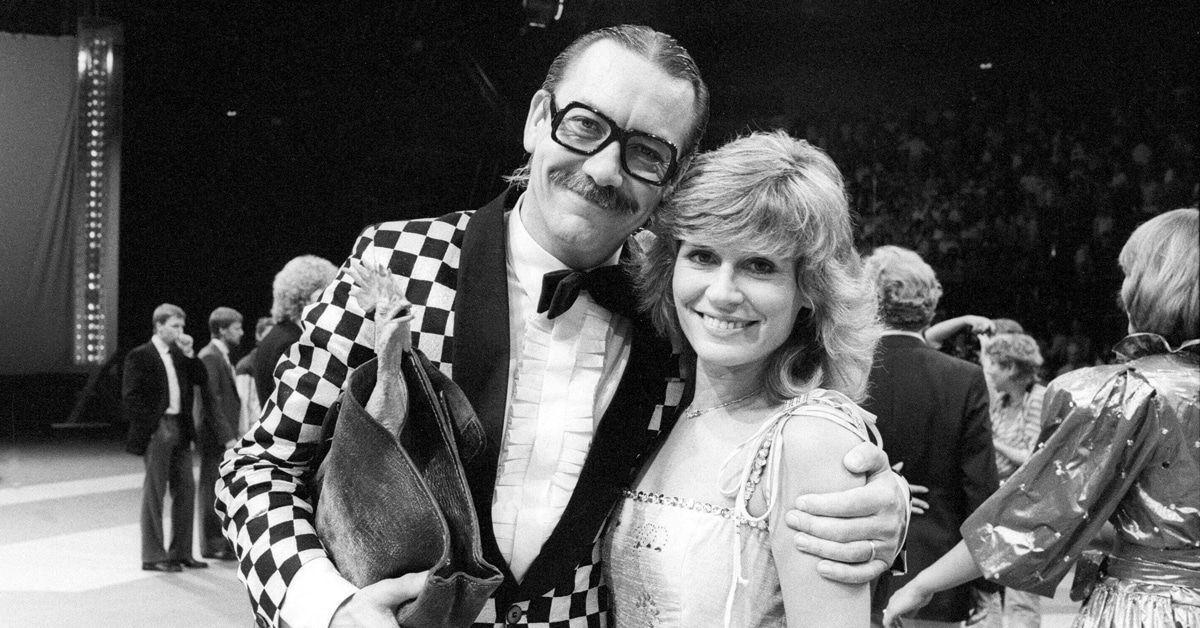 Werner Böhm alias Gottlieb Wendehals mit seiner Ehefrau Susanne Böhm