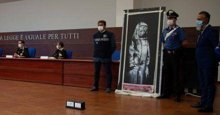 Italien gibt geklaute Banksy-Tür zurück