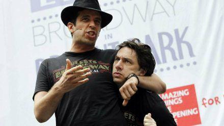 Nick Cordero (l.) und Zach Braff während eines gemeinsamen Auftritts. (wue/spot)