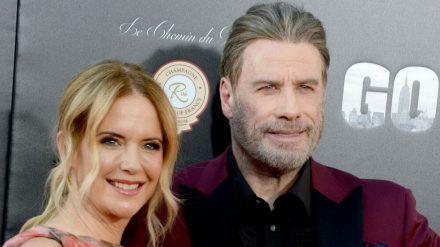 """Einer ihrer letzten gemeinsamen Auftritte auf dem roten Teppich: John Travolta und Kelly Preston im Juni 2018 bei der """"Gotti""""-Premiere. (cam/spot)"""