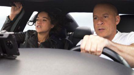 """Vin Diesel und Michelle Rodriguez in """"Fast & Furious 9"""". (cam/spot)"""