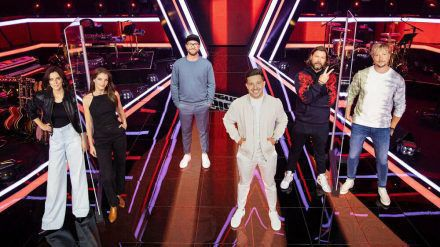 """Die Coaches bei """"The Voice of Germany"""". (jom/spot)"""
