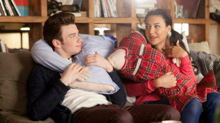 """Chris Colfer und Naya Rivera in einer Szene aus """"Glee"""" (wue/spot)"""