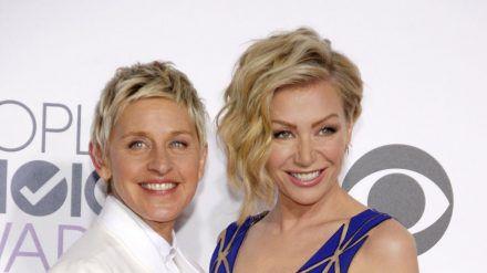 Ellen DeGeneres (links) und Portia de Rossi bauen ihr Zuhause zur Festung um. (dr/spot)