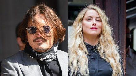 Johnny Depp und Amber Heard erschienen auch am letzten Prozesstag (28. Juli) vor Gericht in London. (cam/spot)