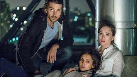 """Diego Luna (v.l.), Nina Dobrev und Ellen Page spielen im Remake von """"Flatliners"""" die Hauptrollen. (cam/spot)"""