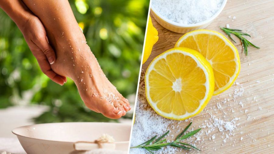 Salz und Zitrone helfen gegen Hornhaut an den Füßen (cos/spot)