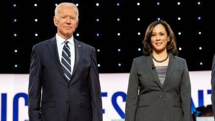 Joe Biden und Kamala Harris waren ursprünglich Konkurrenten als mögliche Präsidentschaftskandidaten der Demokraten. (wag/spot)