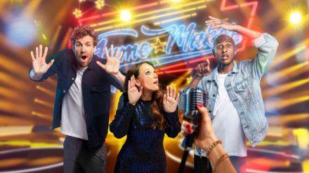 """Luke Mockridge (links), Carolin Kebekus und Teddy Teclebrhan wollen in """"FameMaker"""" überzeugt werden. (mia/spot)"""