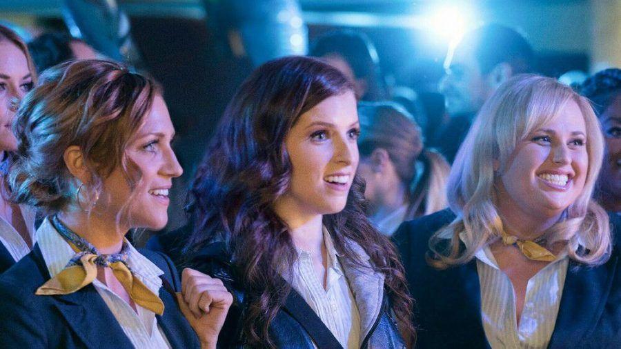 """Pitch Perfect 3"": Chloe (Brittany Snow, v.l.), Beca (Anna Kendrick) und Fat Amy (Rebel Wilson, r.). (cam/spot)"