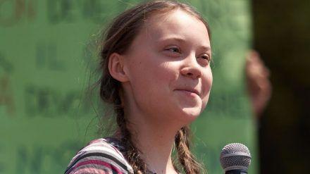 Greta Thunberg bei einem Auftritt in Rom. (hub/spot)