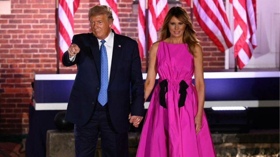 Donald und Melania Trump beim Nominierungsparteitag der Republikaner in Baltimore, Maryland. (cos/spot)