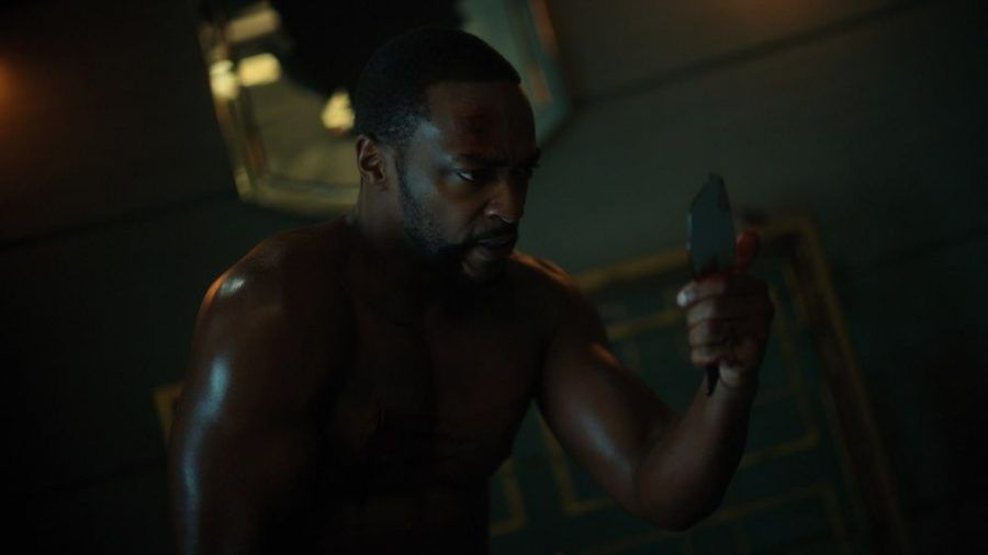 "Marvel-Star Anthony Mackie in seiner ""Altered Carbon""-Rolle des Takeshi Kovacs. (cos/spot)"