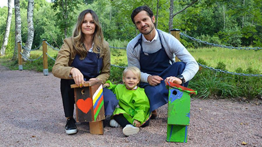 Prinz Gabriel mit seinen Eltern, Sofia und Carl Philip von Schweden (sob/spot)