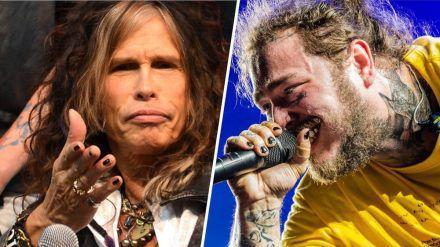 Die Musiker Steven Tyler (l.) und Post Malone tragen regelmäßig Nagellack. (cos/spot)
